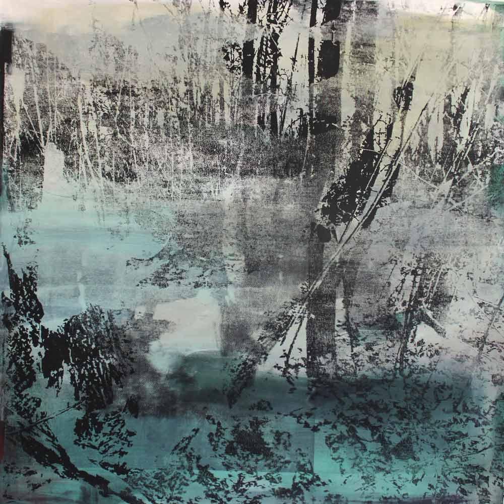 #201790 | Pigment und Siebdruck auf Leinwand | 100 x 100 cm