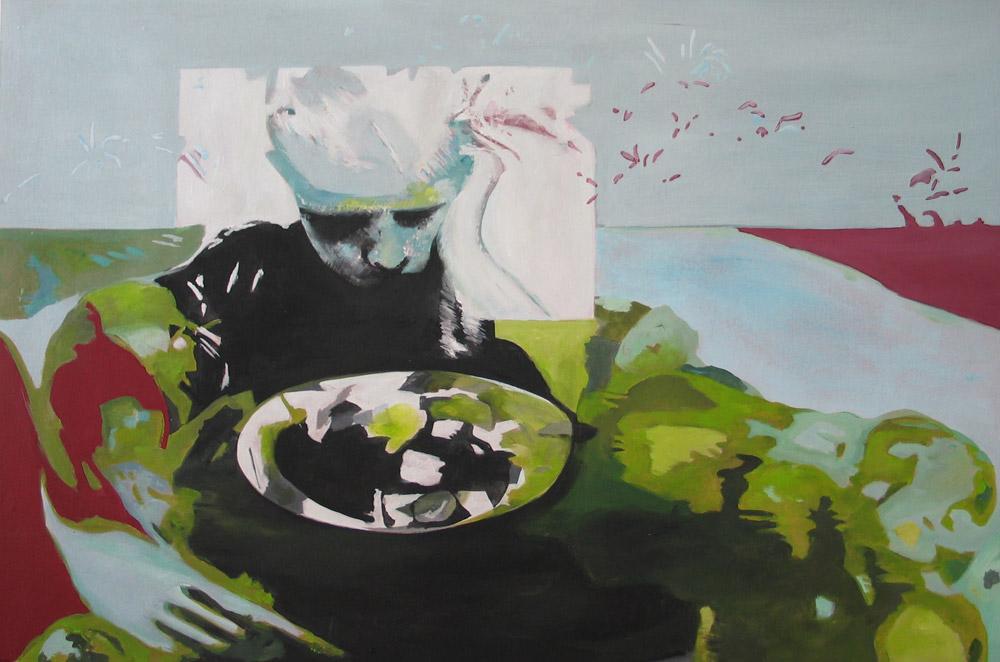 Wer mag schon Rosenkohl   #200814   Acryl auf Leinwand   78 x 120 cm