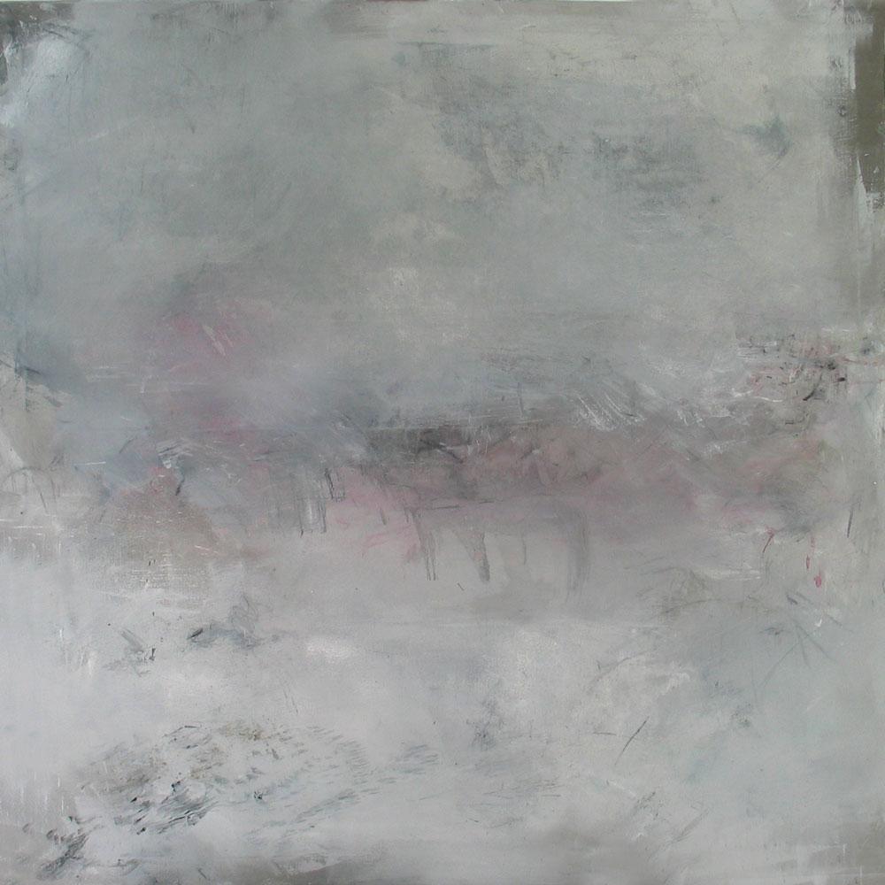 #20115 | Asche und Pigment auf Leinwand | 110 x 110 cm