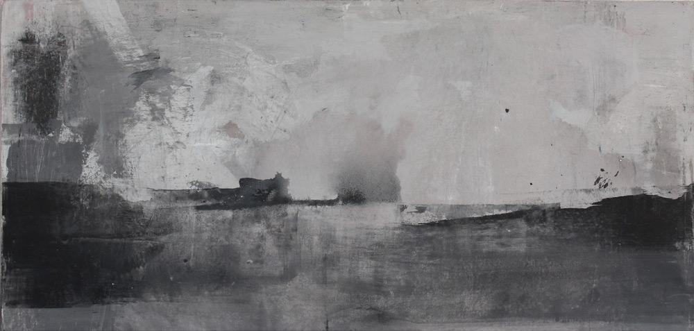 #201113 | Asche und Pigment auf Leinwand | 48 x 100 cm