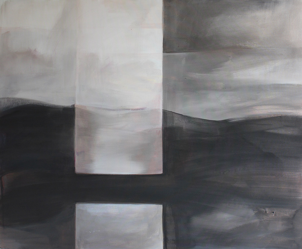 #201378   Asche und Acryl auf Leinwand   99 x 120 cm