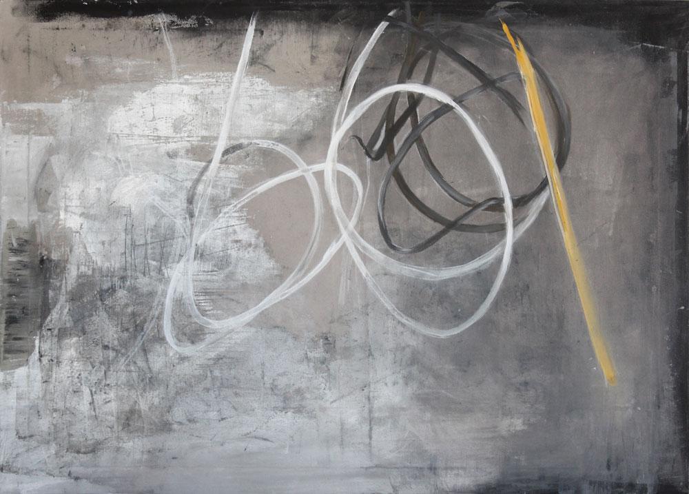 #201380 | Asche und Acryl auf Leinwand | 65 x 90 cm