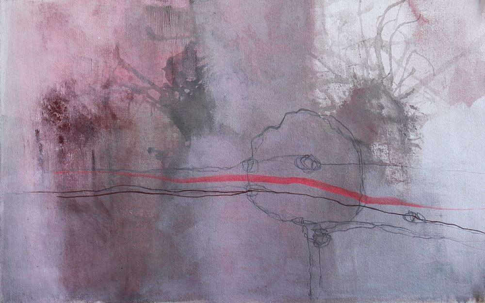 #201410 | Acryl und Pigment auf Leinwand | 36 x 56 cm