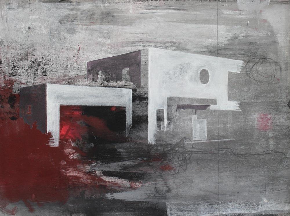 #201414 | Asche und Acryl auf Leinwand | 39 x 51 cm