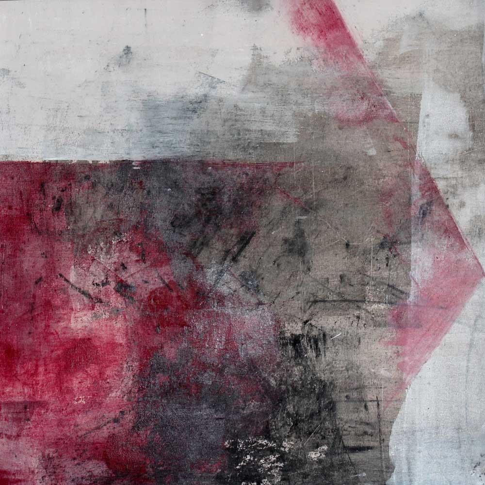 #201428 | Asche und Acryl auf Leinwand | 40 x 40 cm