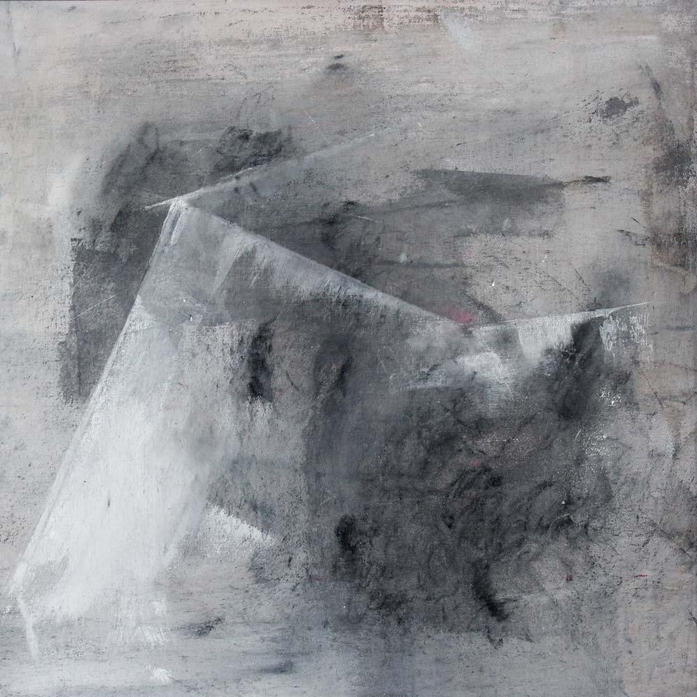 #201429 | Asche, Acryl auf Leinwand | 40 x 40 cm