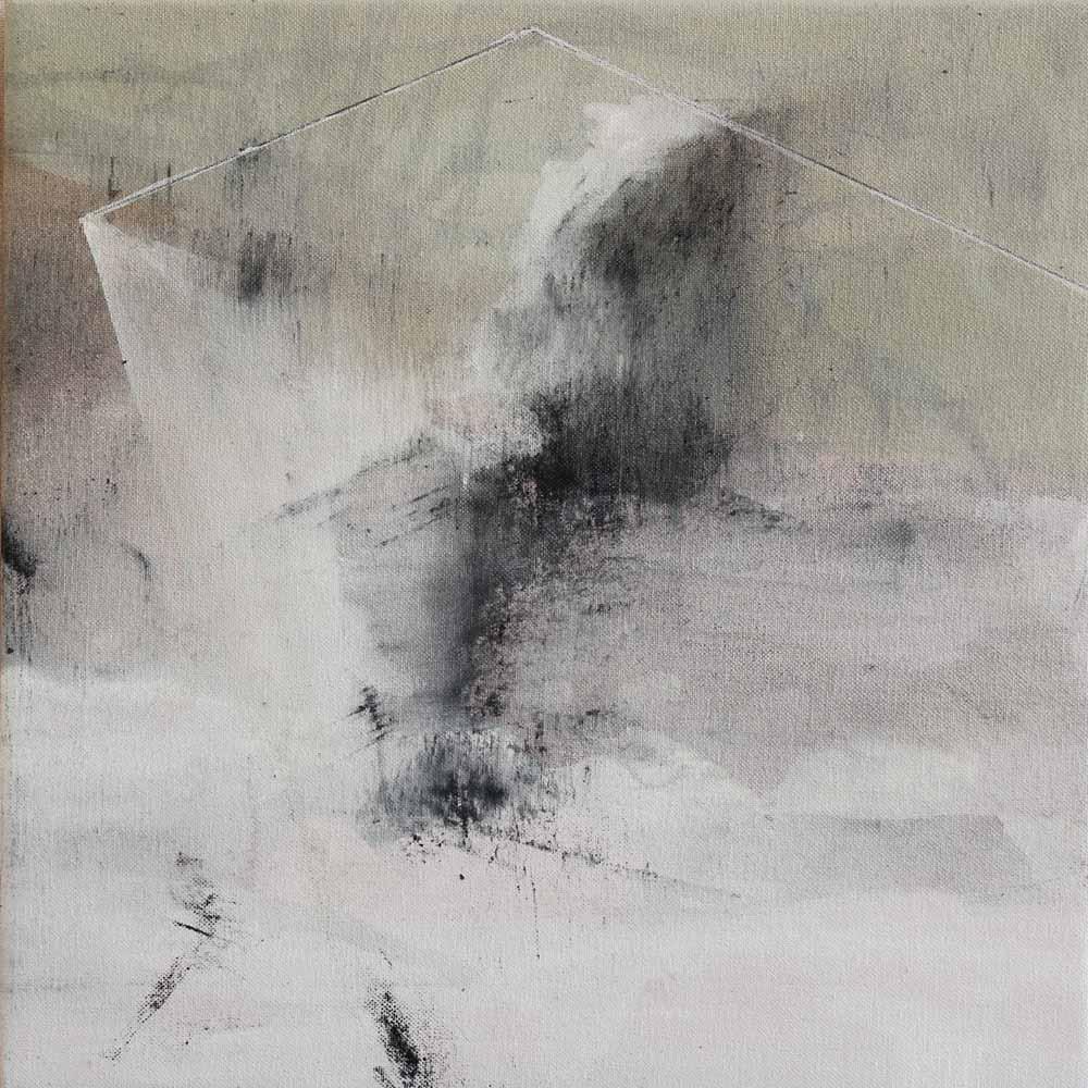 #20143   Asche und Acryl auf Leinwand   30 x 30 cm