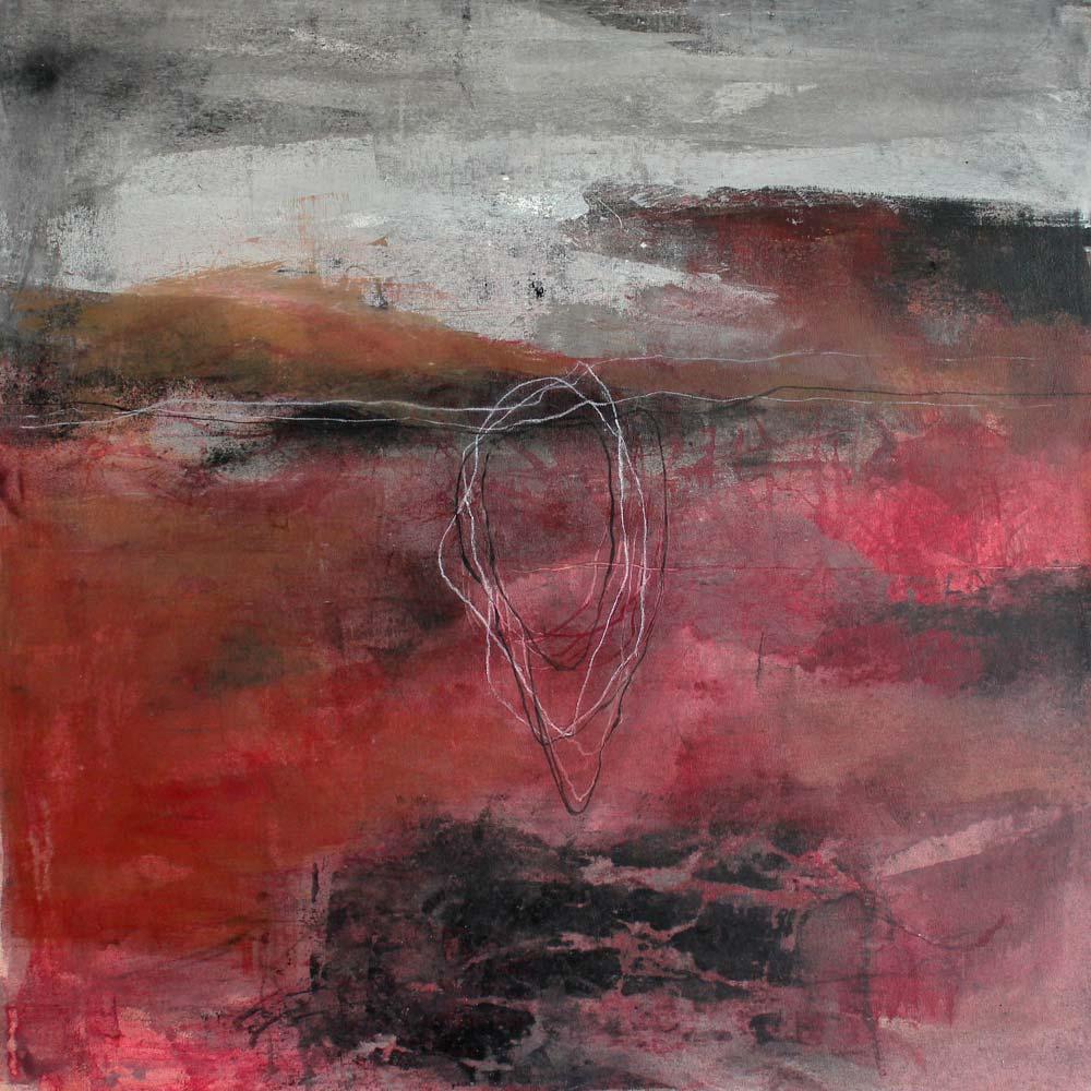 #201433 | Asche und Acryl auf Leinwand | 80 x 80 cm