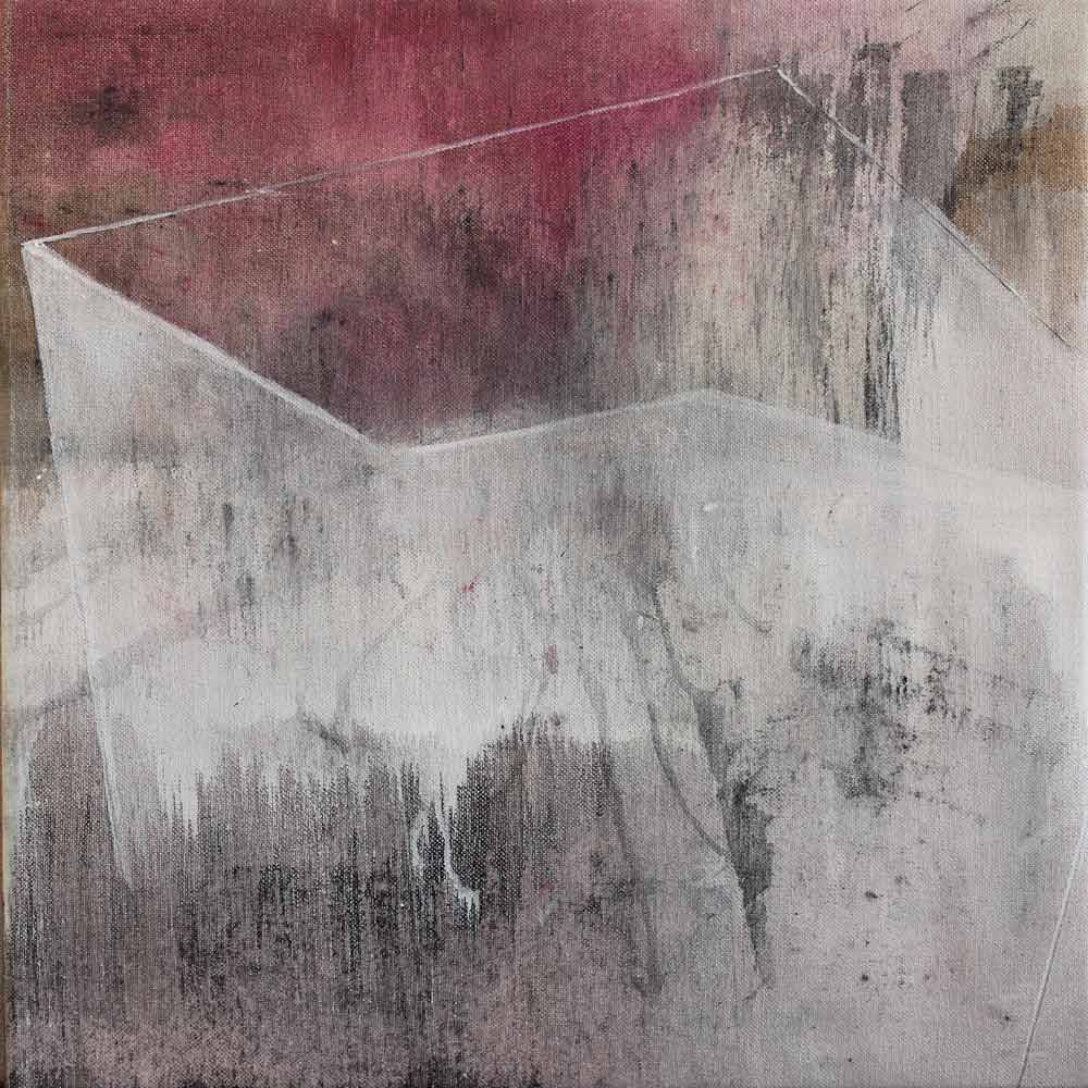 #20144 | Asche und Pigment auf Leinwand | 30 x 30 cm