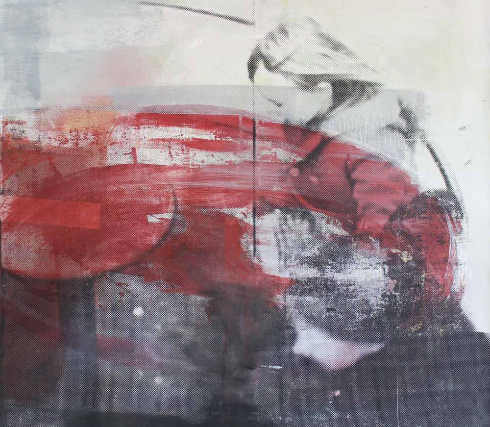 #201513 | Pigment und Siebdruck auf Leinwand | 99 x 120 cm