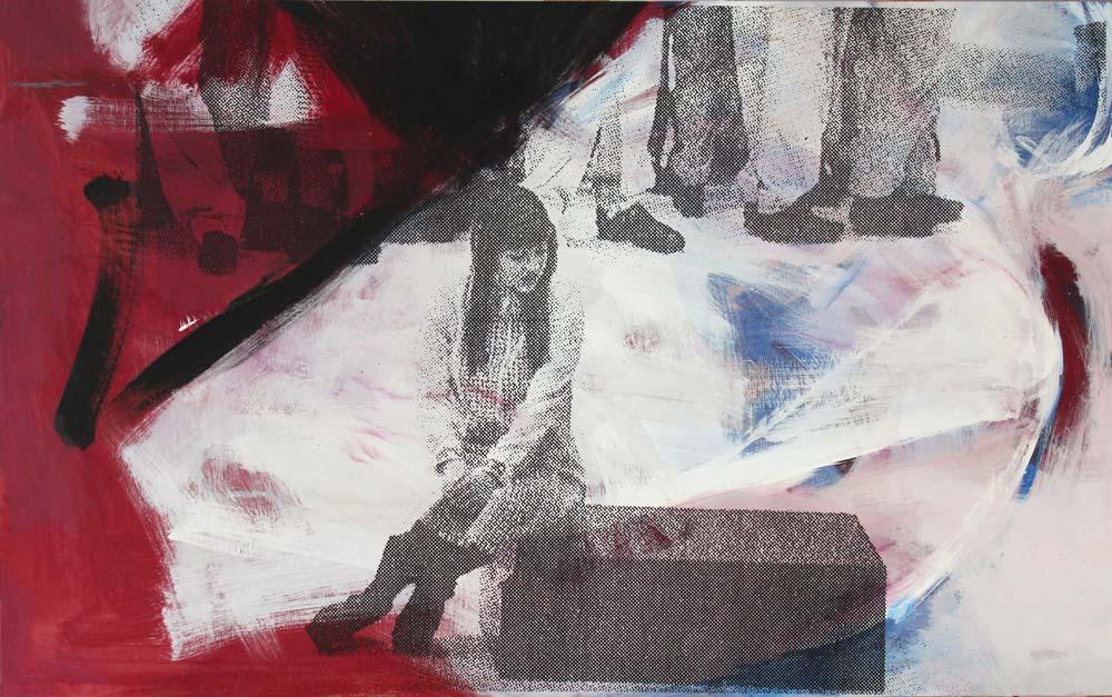 #201556 | Acryl und Siebdruck | 54 x 86 cm