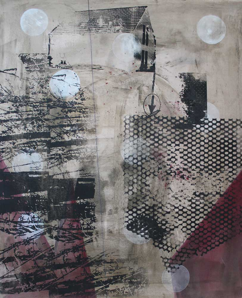#2017132 | Pigment und Siebdruck auf Leinwand | 100 x 80 cm