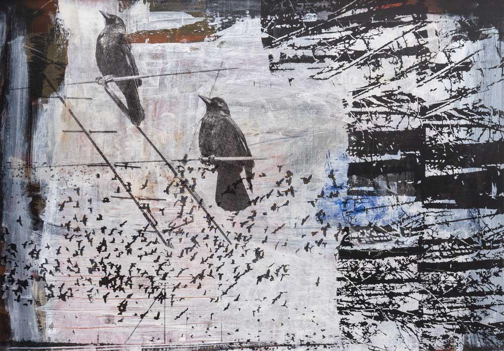 #201848 | Acryl und Siebdruck | 70 x 100 cm