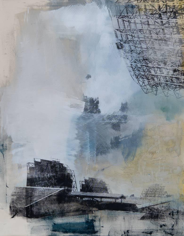 #201928 | Pigment und Siebdruck auf Leinwand | 140 x 110 cm