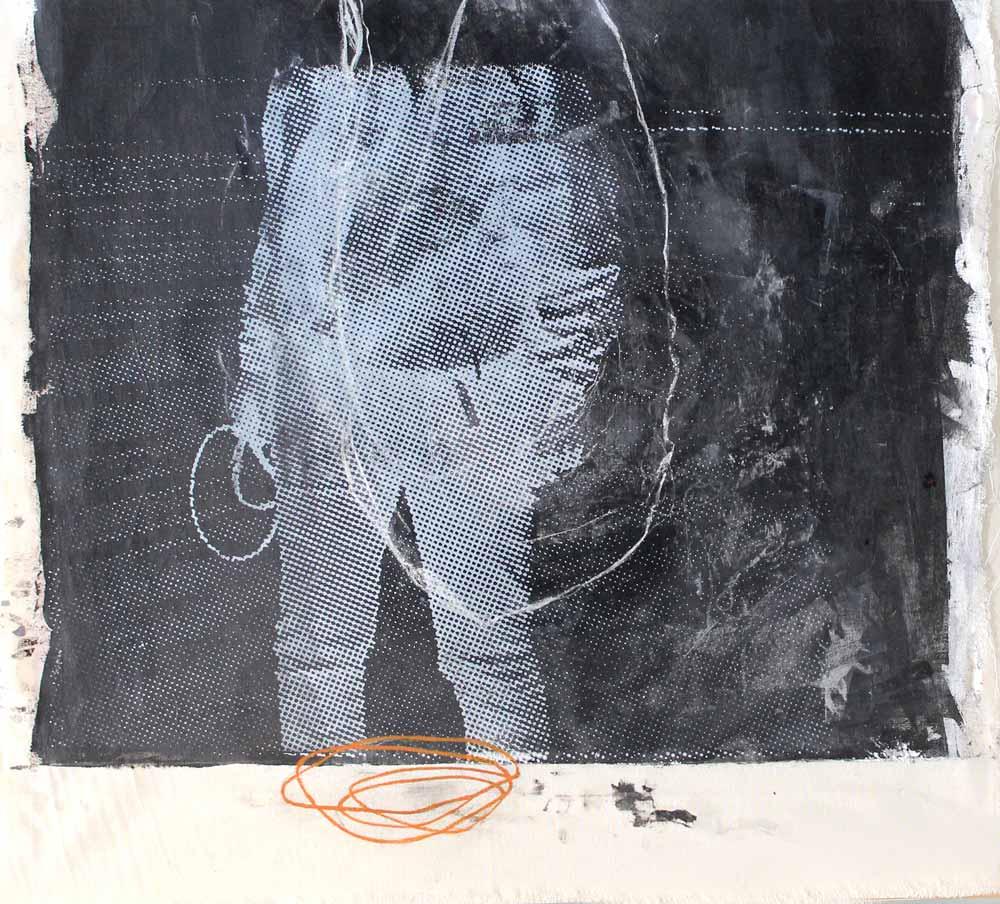 #201538 | Acryl und Siebdruck auf Leinwand | 45 x 50 cm