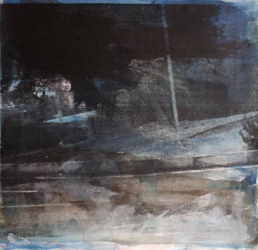 #201528 | Pigment und Siebdruck auf Leinwand | 65 x 69 cm