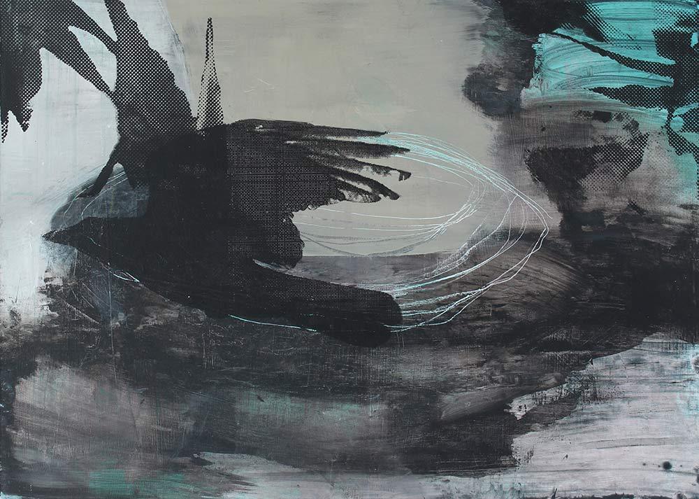 #201849 | Acryl und Siebdruck | 50 x 70 cm