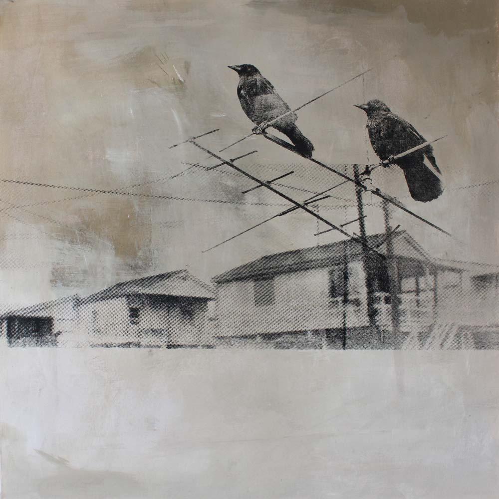#201832 | Pigment und Siebdruck auf Leinwand | 100 x 100 cm