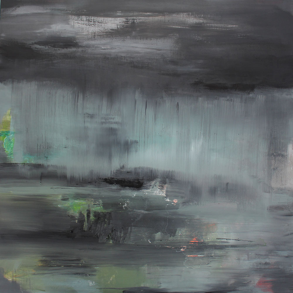 #20122 | Asche und Acryl auf Leinwand | 100 x 100 cm