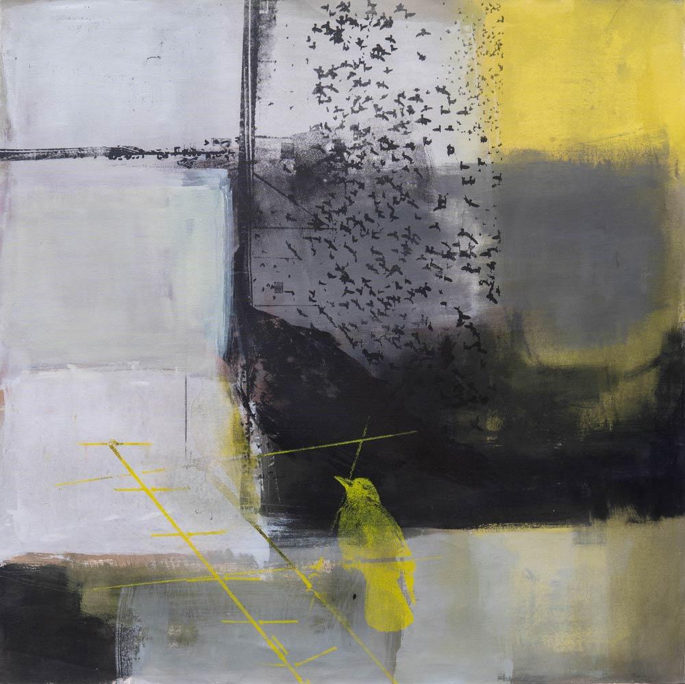 #201824 | Pigment und Siebdruck auf Leinwand | 100 x 100 cm