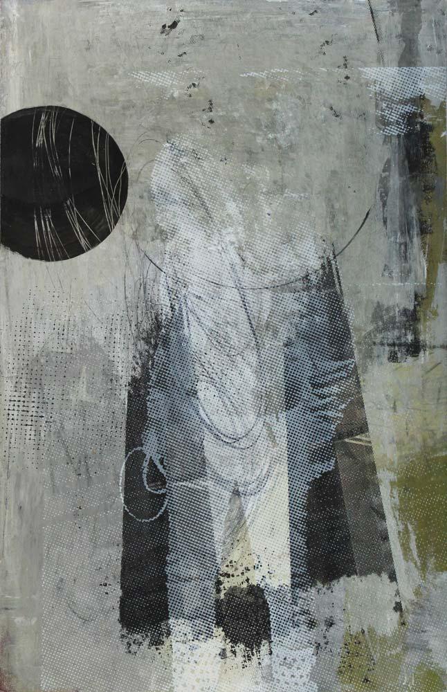 #201535   Acryl und Siebdruck auf Leinwand   61 x 41 cm