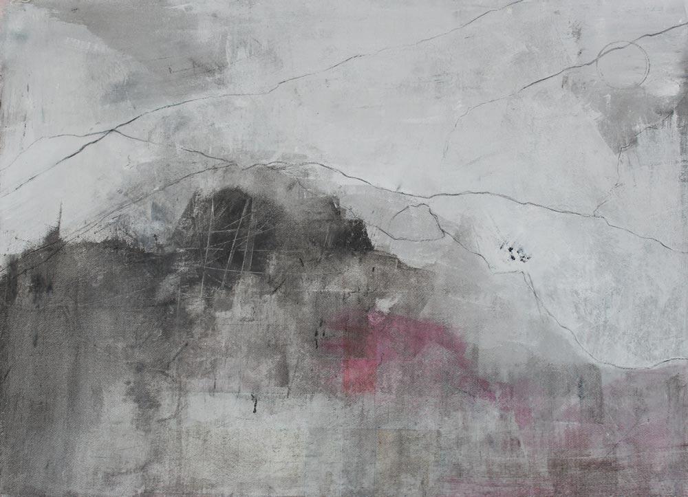 #20126 | Asche und Acryl auf Leinwand | 53 x 72 cm