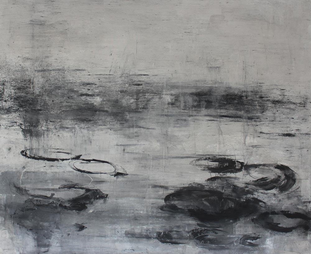 #20125 | Asche auf Leinwand | 99 x 120 cm