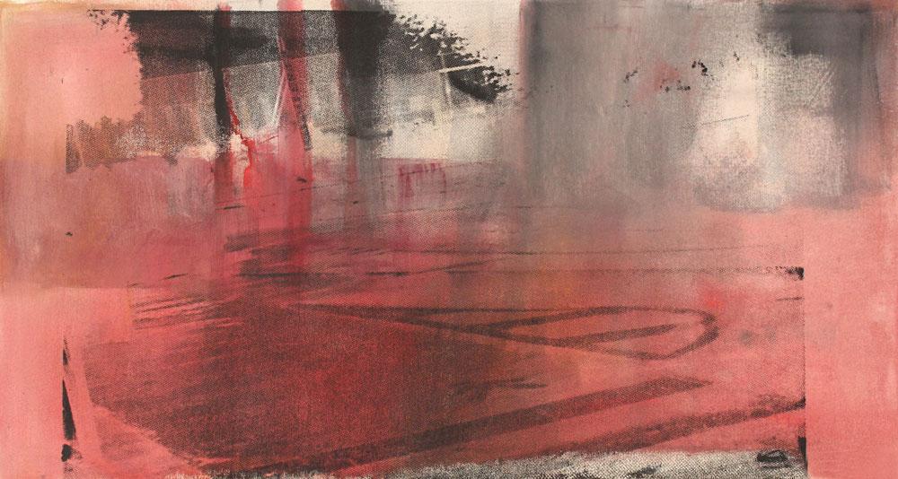 #201564 | Pigment und Siebdruck auf Leinwand | 41 x 76 cm