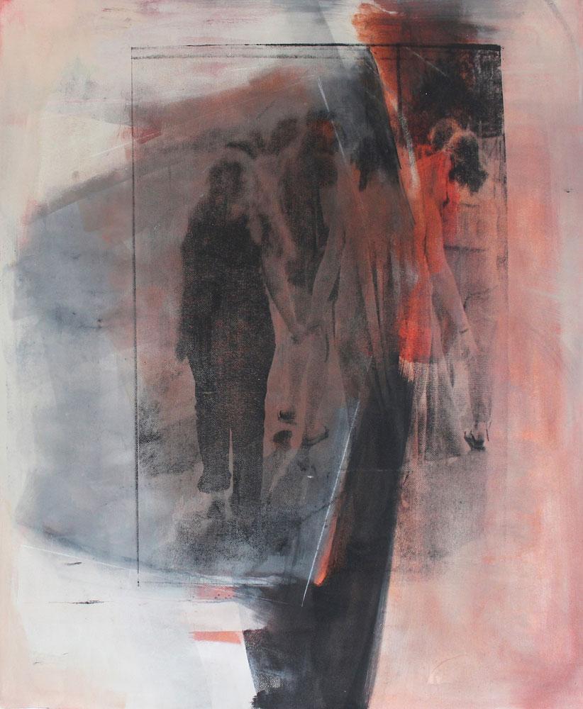 #201626 | Pigment und Siebdruck auf Leinwand | 120 x 99 cm