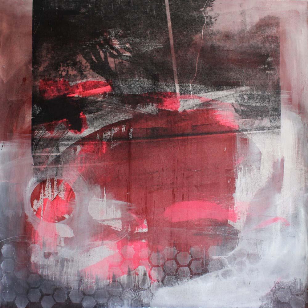 #201527 | Acryl, Pigment und Siebdruck auf Leinwand | 100 x 100 cm