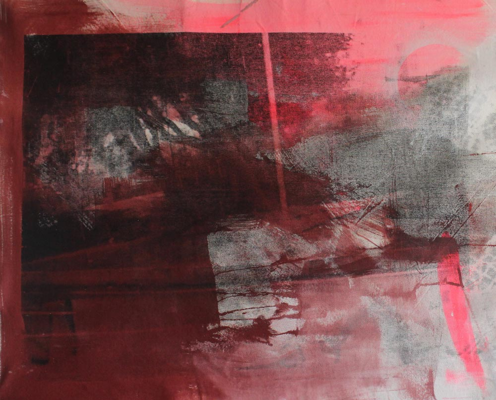 #201526 | Acryl, Pigment und Siebdruck auf Leinwand | 67 x 89 cm
