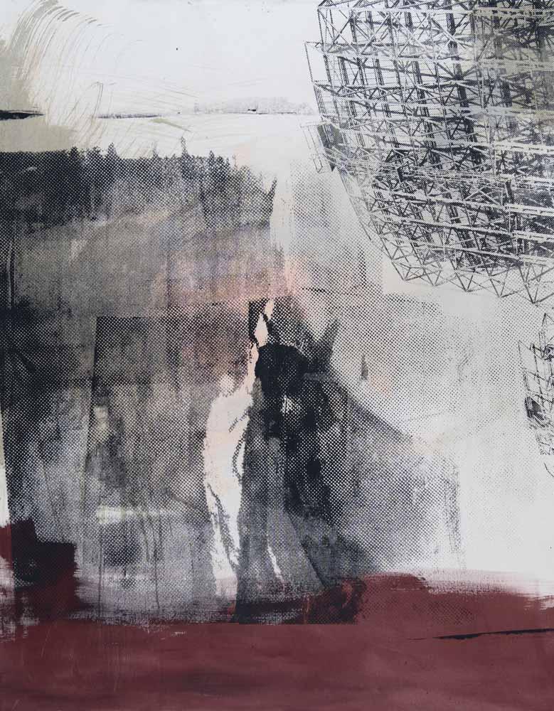 #201936 | Pigment und Siebdruck auf Leinwand | 140 x 110 cm