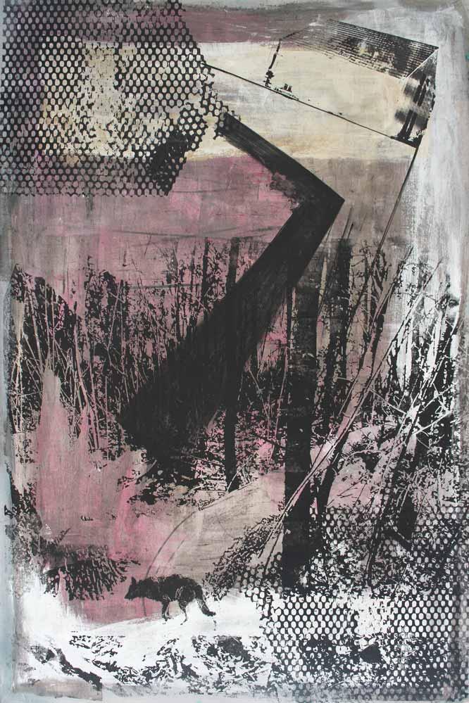 #2017134 | Pigment und Siebdruck auf Leinwand | 150 x 100 cm