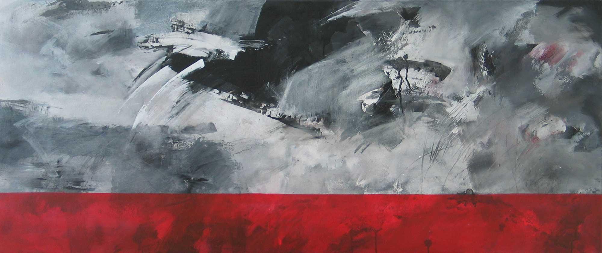 #20092 | Variationen zu einem Thema #23 | Acryl auf Leinwand | 60 x 140 cm