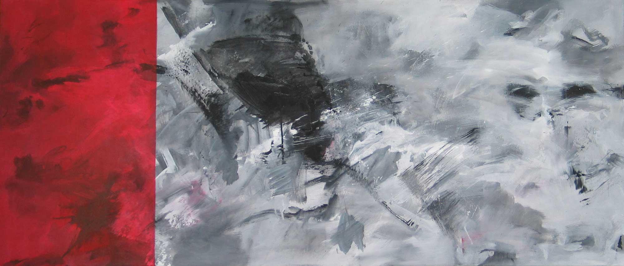#20091 | Variationen zu einem Thema #23 | Acryl auf Leinwand | 60 x 140 cm