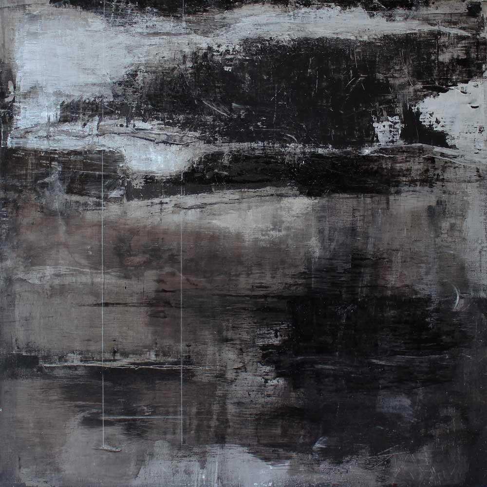 #201414 | Asche, Pigment auf Leinwand | 70 x70 cm