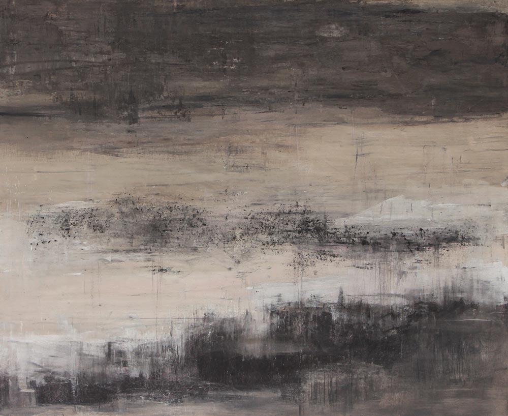 #201349 | Asche auf Leinwand | 99 x 120 cm