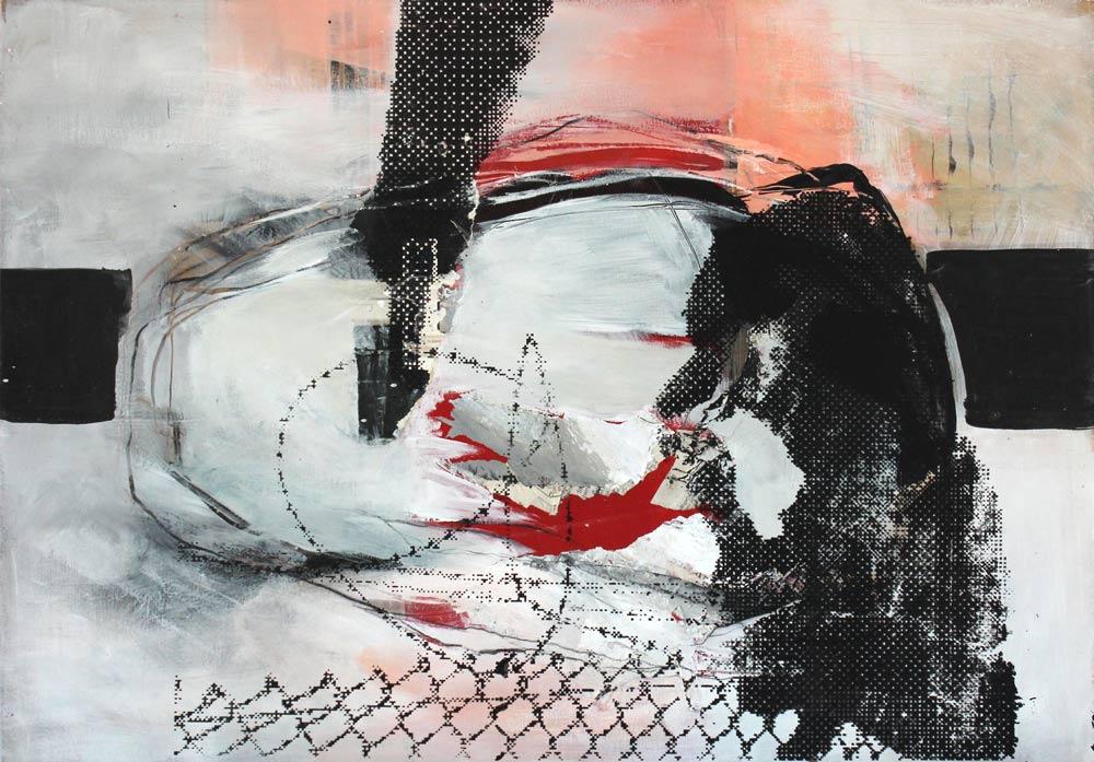 #201537 | Acryl, Collage und Siebdruck | 70 x 50 cm