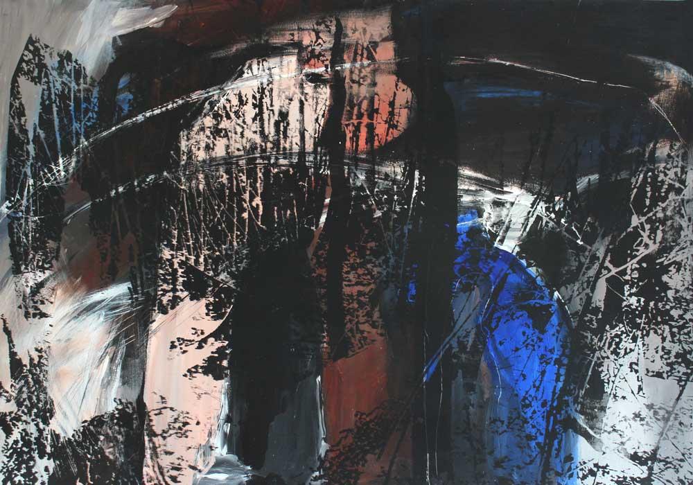 Lichtung #2017110 | Acryl und Siebdruck | 70 x 100 cm