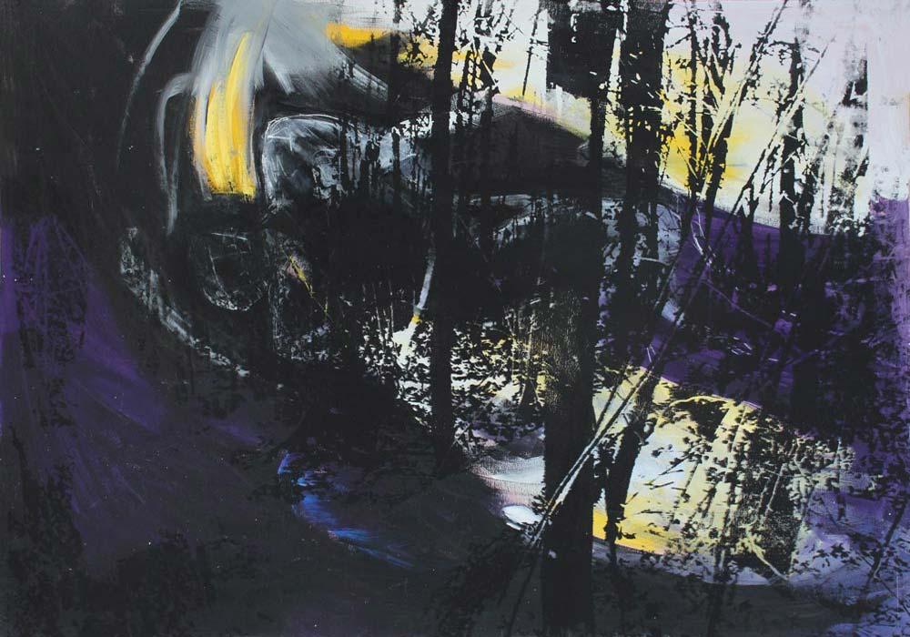 Lichtung #201792 | Acryl und Siebdruck | 70 x 100 cm