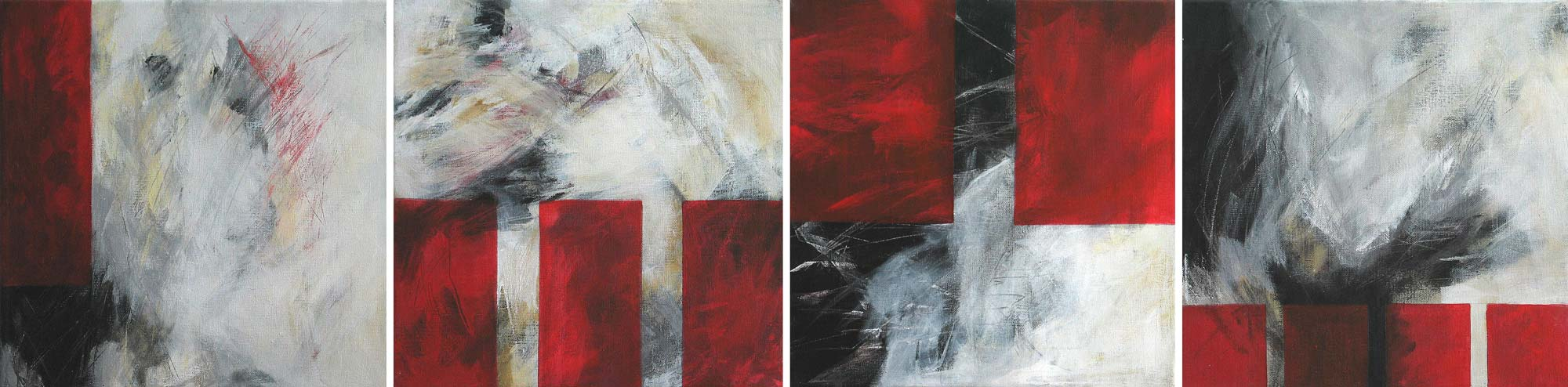 #200342 | Variationen zu einem Thema #2 | 4teilig | Acryl auf Leinwand | je 40 x 40 cm