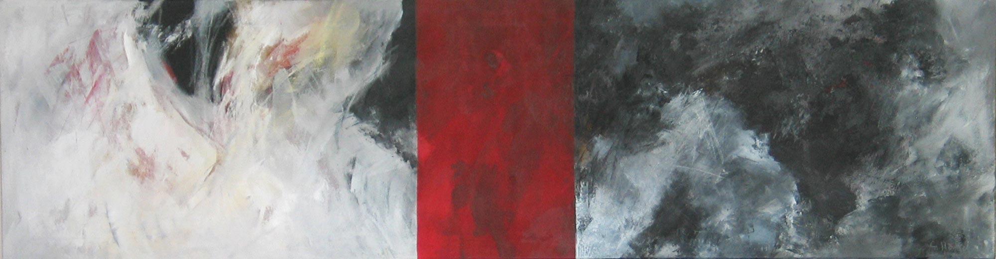 #200348 | Variationen zu einem Thema #8 | Acryl auf Leinwand | 40 x 150 cm