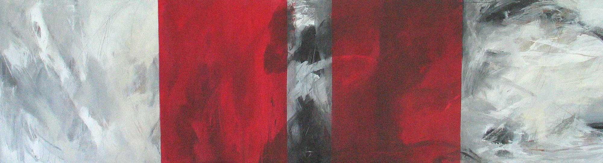 #200349 | Variationen zu einem Thema #9 | Acryl auf Leinwand | 40 x 150 cm