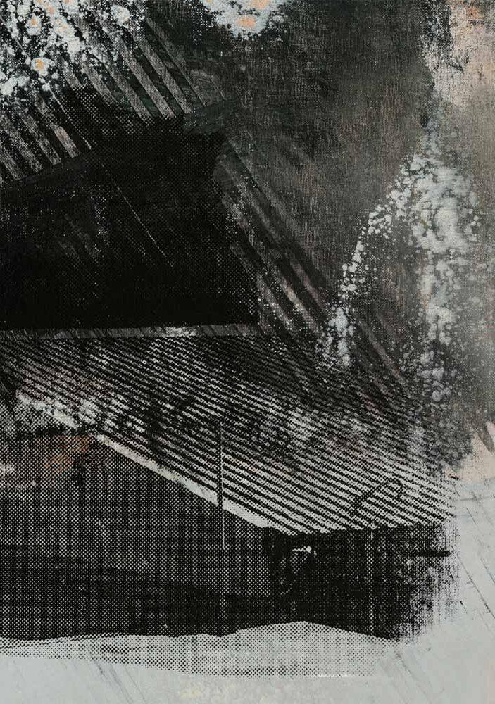 #20219 | Acryl und Siebdruck auf Leinwand | 43 x 30 cm