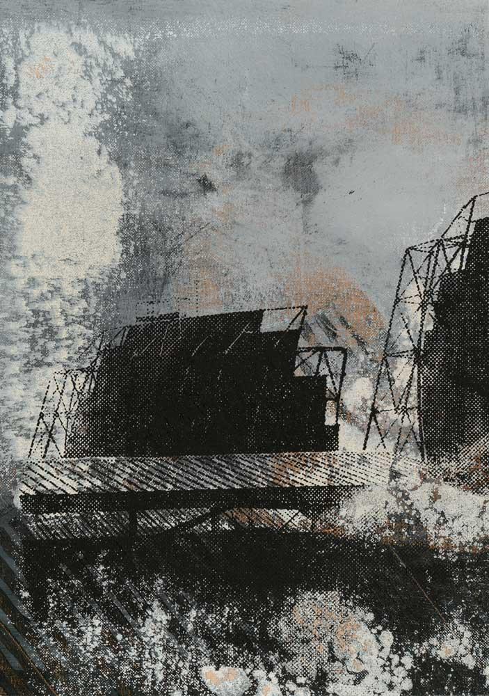 #20218 | Acryl und Siebdruck auf Leinwand | 43 x 30 cm