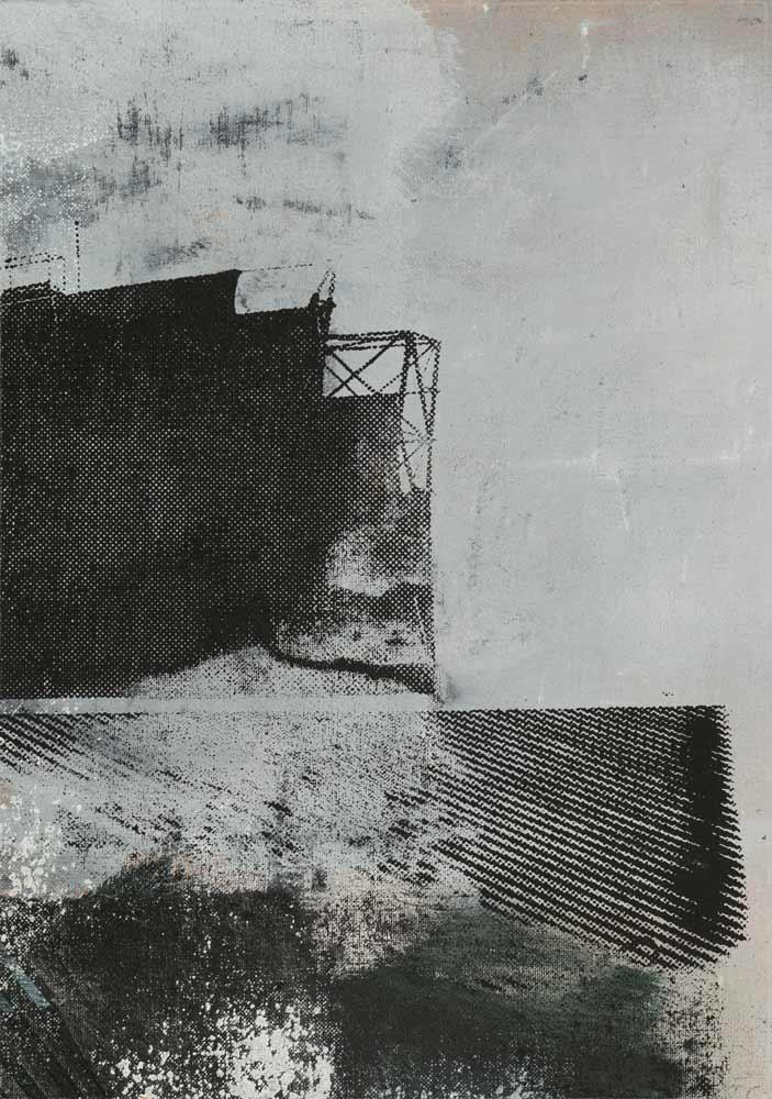 #20217 | Acryl und Siebdruck auf Leinwand | 43 x 30 cm