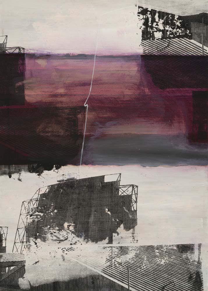 #20215 | Acryl und Siebdruck | 70 x 50 cm