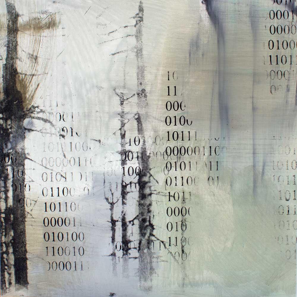 #201860 | Pigment, Acryl und Siebdruck auf Leinwand | 80 x 80 cm