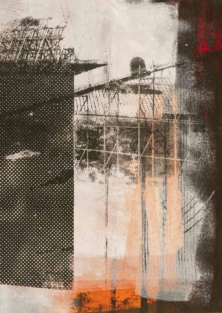 #202025 | Pigment und Siebdruck auf Leinwand | 43 x 30 cm