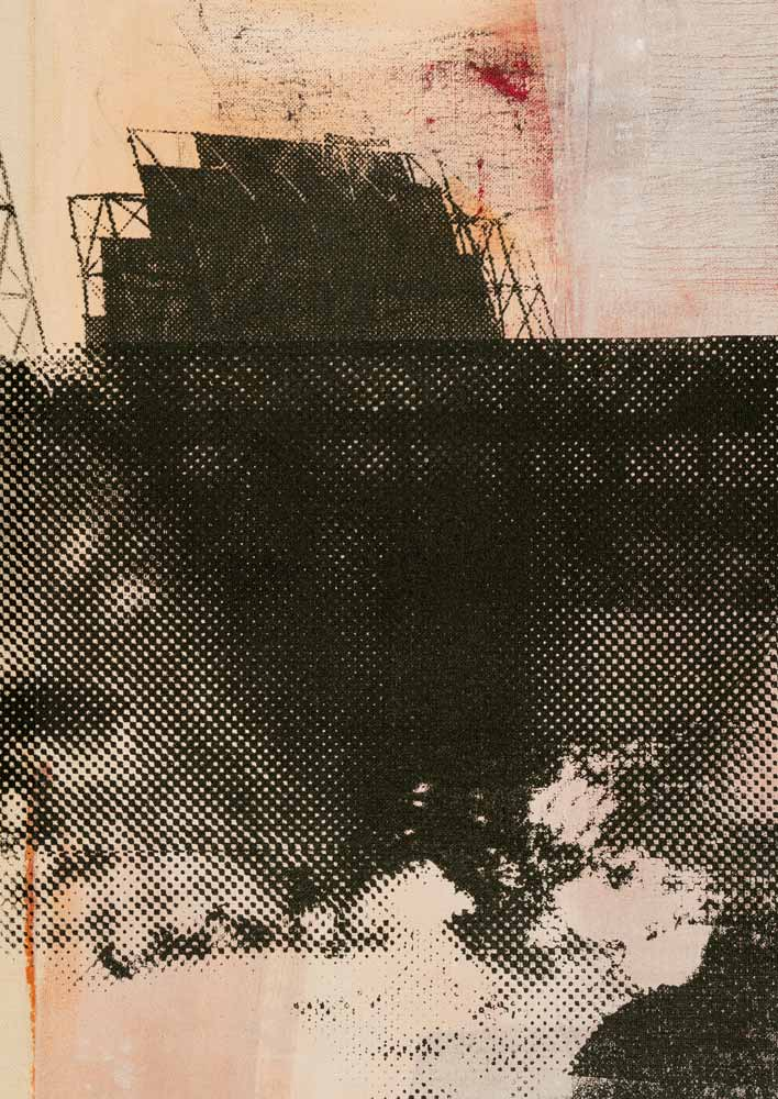 #202026 | Pigment und Siebdruck auf Leinwand | 43 x 30 cm